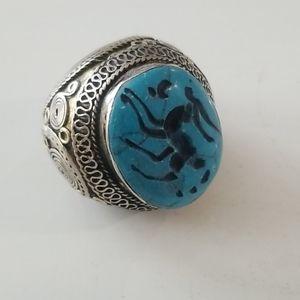Turquoise Vintage Southwest Handmade Ring